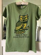 "Dutch Bros Coffee Sz M  Cotton Blend T-Shirt-OWL Grafic ""GIVE A HOOT"""