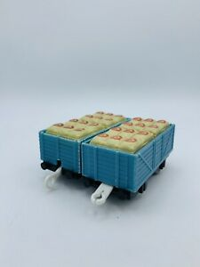 Thomas & Friends Trackmaster Cargo Lot Blue Trucks w/ Bread Flour Inserts Bakery