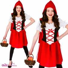 Childs Age 8 9 10 Little Red Riding Hood Fairytale Girl Book Fancy Dress Costume