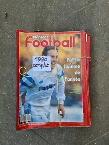 lot France Football année complète 1990