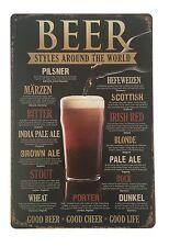 Vintage tin métal signe plaque mur bar rétro décor pub poster home club taverne