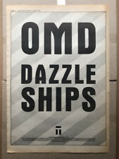 OMD DAZZLE SHIPS POSTER SIZED original music press advert from 1983 with tour da