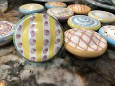 New Listing1 Mackenzie-Childs Handpainted Pottery Drawer Pulls/Knobs Majolica. Vintage