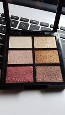 MUA Professional 6 Shade eye shadow Palette Rusted Wonders gold and red tones