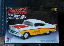 "AMT 1957 CHEVROLET BEL-AIR ""COCA COLA"" 2 DOOR 1:25TH SCALE PLASTIC MODEL KIT"