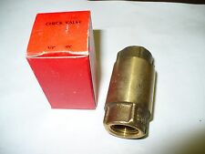 """1 pc SGP Brass Industrial Check Valve, 200lb 1/2"""" One Direction, New"""
