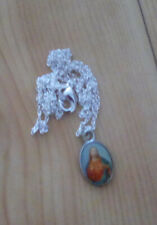 Fine silver chain with Sacred Heart medal. State chain size if other than 20ins