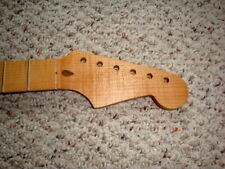 Super Nice Lightly Roasted Flame Maple STRAT NECK Musikraft 21f Aged Oil Finish