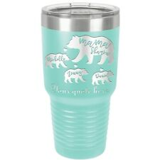 Mama Bear Cubs Personalize, Thermal Tumbler Mug  for Coffee, Water, Hot and Cold