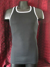 Go Softwear Y-Back Ribbed tank top contrast Black / White (M)