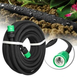 Porous Hose Pipe SoakerIrrigation System Save Water Hosepipe 30m 25m 15m 7.5m