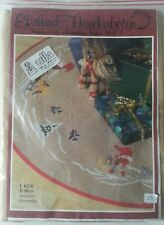 NEW Unopened Tomte Nisse Christmas Tree Skirt Needlework Kit Swedish Crosstitch