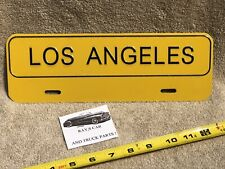 NEW LOS ANGELES UNIVERSAL LICENSE PLATE TOPPER .