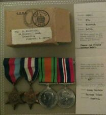 GREAT BRITAIN WW2 - R.A.F 'COASTAL COMMAND' OFFICER MEDALS, BOX & ENTITLEMENTS