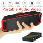 Portable Wireless Bluetooth Speaker Stereo Super Bass Loud TF AUX MP3 FM