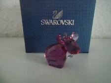 Swarovski figura lovlots mini mo en burdeos, personaje de vidrio