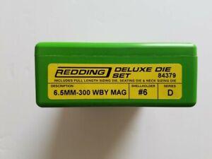 84379 REDDING 3-DIE FULL LENGTH / NECK 6.5/300 WEATHERBY MAG DELUXE DIE SET