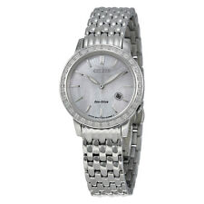 Citizen Diamond Eco-Drive Mother of Pearl Stainless Steel Ladies Watch-AU