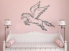 Wall Room Decor Vinyl Sticker Mural Decal Nursery Girl Pegasus Magic Fly F2215