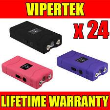(24) VIPERTEK VTS-880 Mini Stun Gun 3 Colors Mix - Wholesale Lot