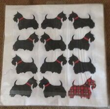 SCOTTISH SCOTTIE DOGS NAPKINS TARTAN- TRIPLE PLY QUALITY PAPER - PACK OF 20 -NEW