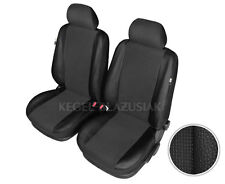 Tailored Car Seat Covers Front Seats Black Leather Made For FORD C-MAX & S-MAX