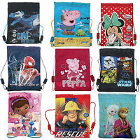 Disney & Kids TV Character Gym School Trainer PE Sports Bag Brand New Gift