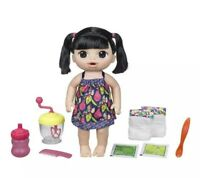 Baby Alive Sweet Spoonfuls Baby  Black Straight Hair Girl Doll