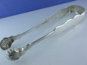 Early Coin Silver Lg Sugar Serving Tongs WILLIAM M WISE JR Brooklyn NY 1800's