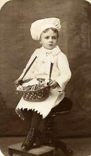 Young Boy Cook Game France Vernon Old CDV Photo Messier 1870