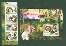 Guinea Bissau 2013 - WWF Affen Mone de Campbell Meerkatze Mona Monkeys Singes **