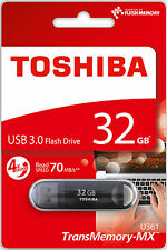 Toshiba 32 GB USB 3.0 Flash Stick Pen Memory Drive - 32GB