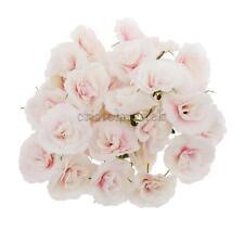 50x Artificial Silk Rose Peony Flower Heads Bulk Craft Bridal Decor Pink White