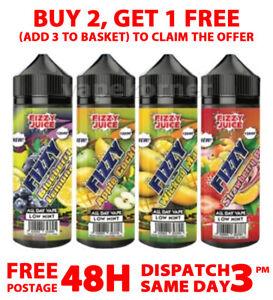 Fizzy Juice E Liquid | 34 Flavours | 70/30 VG/PG Vape Juice | 0mg