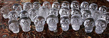 Wholesale Price! 100Pcs Natural White quartz Crystal Carved Skull