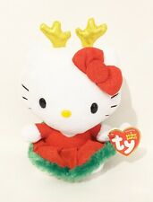 "TY Original Beanie Babies Collection Hello Kitty Christmas Holiday 6"" Plush New"