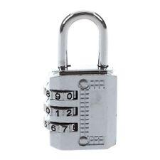 Combinazione Lucchetto Viaggio Valigia Bagaglio Serratura Password Reimpost Q6R8