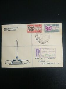 SOUTH AFRICA 1954 Centenary Orange   Free State,  Registered FDC.
