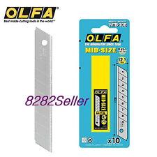 OLFA MTB-10B 10 medium-sized 0.45mm-thick tough blades in a plastic case.Blister