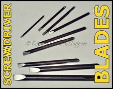 Spare Screwdriver Blades Set 9 Assorted 0.6 - 2.3 mm Watch Watchmakers Jewellers