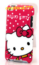 for iPod touch 4th cute kitty 4 th 4g itouch hard case hot pink white polka dot