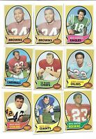 1970 TOPPS FOOTBALL CARD LOT
