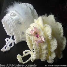 CROCHET PATTERN by Beautiful-Babys-Bonnets for Girls Hat 18-24mths  2-3yrs #12