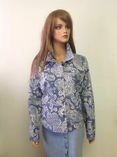 Croft & Barrow Stretch Denim Jeans Paisley Jacket Sz 14 Designer Fashion  Hip