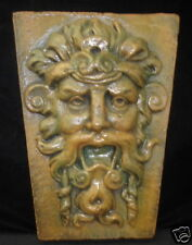 New listing Gothic Wall Plaque Wild God of Nature Greenman Sculpture Home Garden Decor