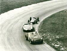 Vintage 8x10 1963 IRP Dan Gerber Cobra, Buzzetta Porsche, Brady Stanguellini