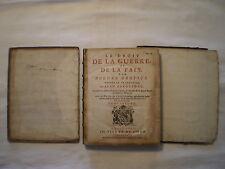 ANTIQUE 1724 LE DROIT DE LA GUERRE ET DE LA PAIX PAR HUGUES GROTIUS VOLUME 2