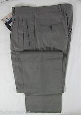 COMO SPORT Cotton Pleated 4-Pocket Lined Black White Dress Pants UNHEMMED 32 W