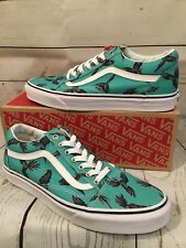 Vans Old Skool Dirty Bird Turquoise/True White Mens 11