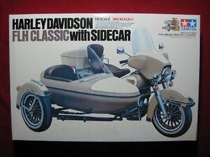Harley Davidson FLH Classic w/Sidecar Tamiya 1/6 Big Scale Model Kit Rare 16018